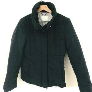 Banana Republic Black Full Zip Puffer Coat
